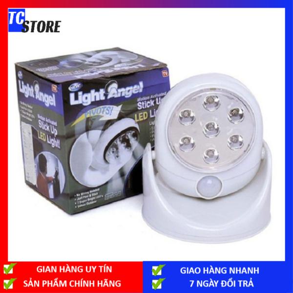 Bảng giá Đèn cảm ứng hồng ngoại Light Angel 7 đèn LED thông minh, bóng đèn chiếu sáng bật tắt theo chuyển động của người, vật chuyển động