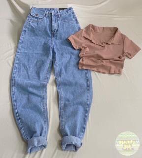 [HCM]Quần baggy jean quần bò chất vải cao cấp chất lượng thời trang trẻ trung lưng cao 1990STORE MS235 thumbnail