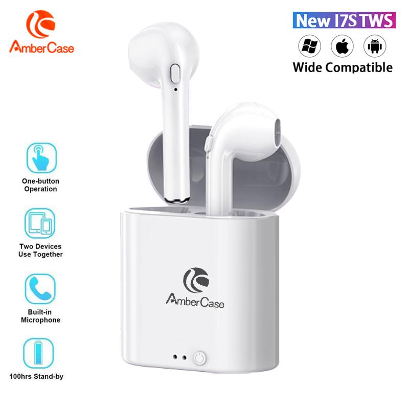 Tai Nghe Mini Không Dây AmberCase I7s TWS Bluetooth 5.0 Có Hộp Sạc Đèn LED Hiển Thị Lượng Pin Âm Thanh Nổi Rảnh Tay Tương Thích Với Apple Samsung Android OPPO