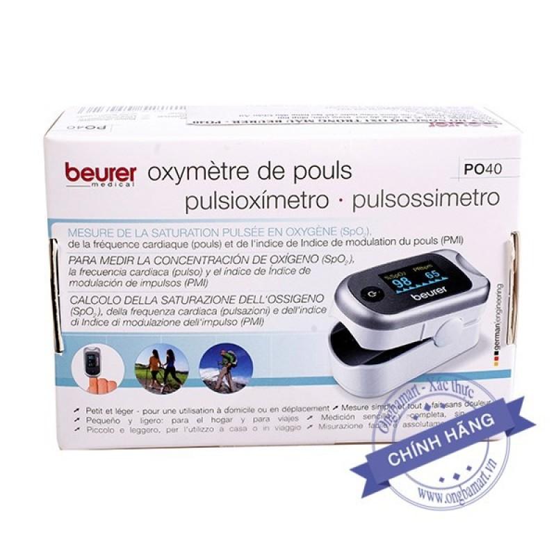 Máy đo nồng độ oxy SpO2 nhịp tim Beurer PO40 bảo hành chính hãng 2 năm bán chạy