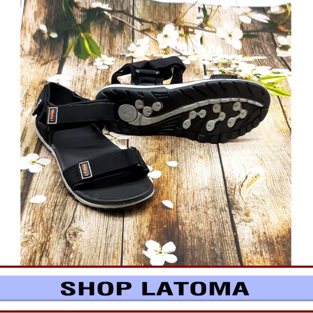 Giày Sandal nam quai dù, giày xăng dan có quai hậu, học sinh sinh viên thể thao mang đều phù hợp vào độc đáo kiểu dáng thời trang cao cấp Latoma TA1381 (Đen) giá rẻ