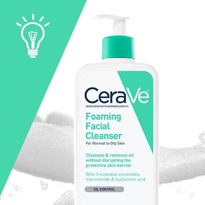 Sữa Rửa Mặt Dành Cho Da Dầu Cerave Foaming Facial Cleanser 355ml