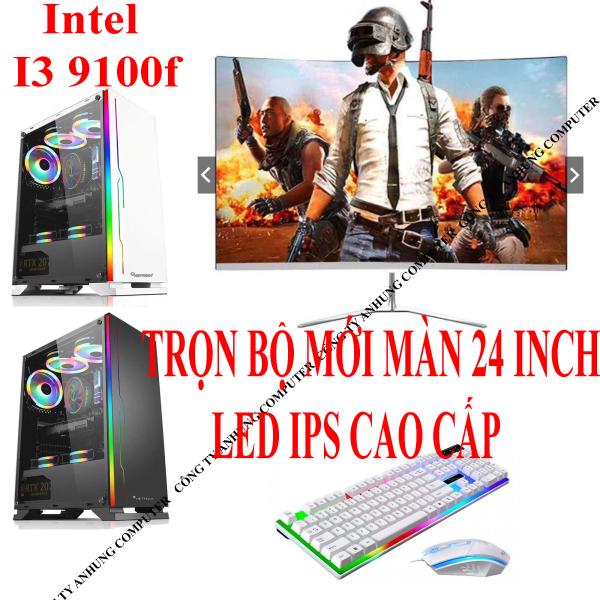 Bảng giá [MÁY MỚI] Bộ máy tính để bàn pc chơi GAME core i3 9100f mới đời cao 2020 Màn hình mới 24 inch tràn viền LED Gaming Phong Vũ