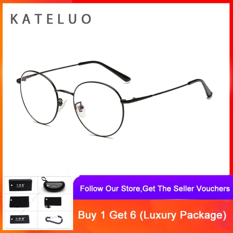 Mua KATELUO Fashion Vintage Round Computer Anti Fatigue Radiation-resistant Reading Eyeglasses 9001