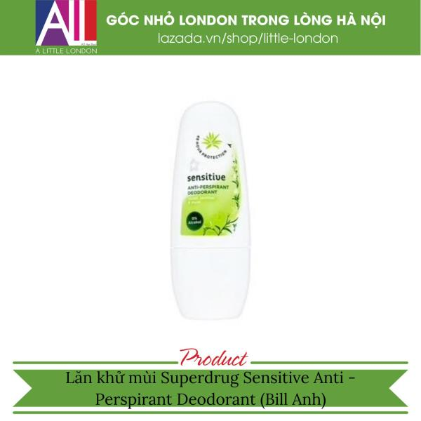 Lăn khử mùi Superdrug Sensitive Anti - Perspirant Deodorant (Bill Anh)