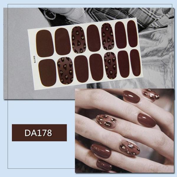 Bộ dán móng tay nail sticker gồm 14 móng mã DA161 - DA180 giá rẻ