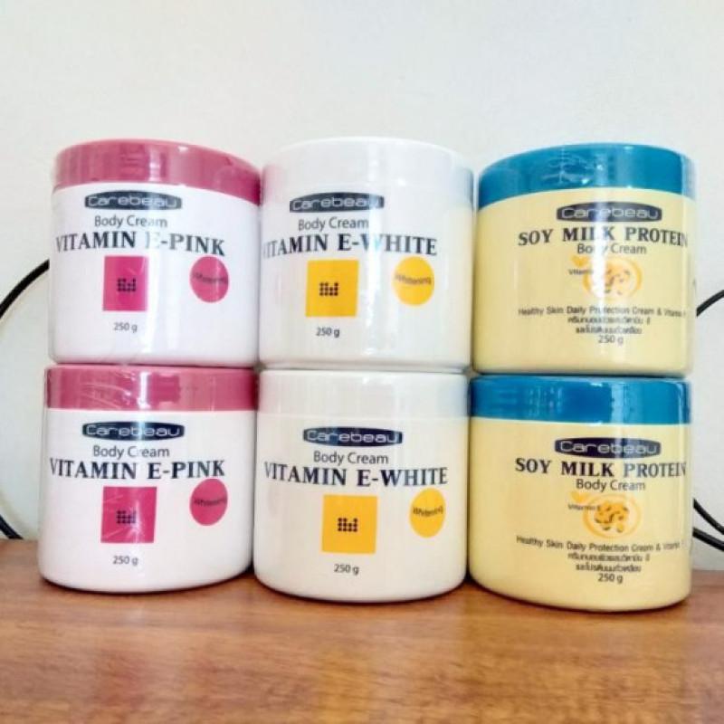 Kem Dưỡng Thể Trắng Da Carebeau Vitamin E Whitening Body Cream 250g