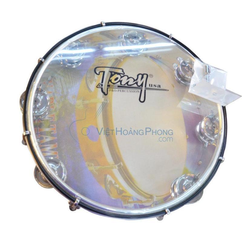 Trống lắc tay - trống gõ bo - Tambourine Cao Cấp TONY (USA) - Việt Hoàng Phong