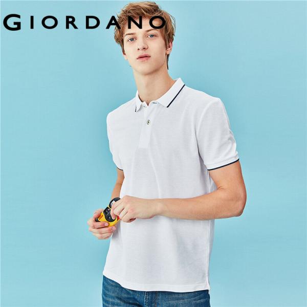 Áo thun có cổ polo nam chi tiết sọc đơn giản, trẻ trung, cổ bẻ chất liệu mềm mịn Giordano 13010208
