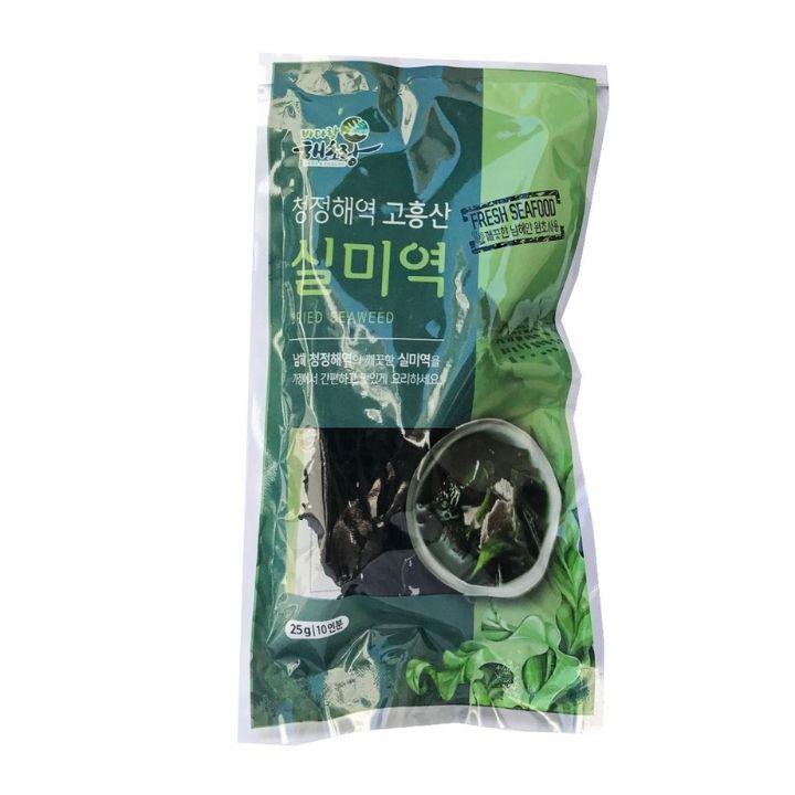Rong biển khô nấu canh K-Food 25g, lá rong biển được chê biến khô, tảo biển sấy khô, thực phẩm ăn chay giảm cân, đồ ăn vặt Hàn Quốc