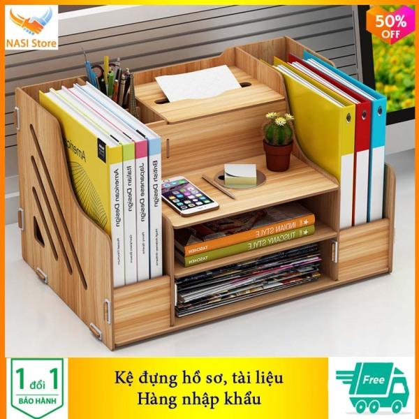 Mua Kệ Đựng Hồ Sơ KH07 (hàng nhập khẩu) - Kệ đựng tài liệu, kệ đựng hồ sơ văn phòng, kệ đựng hồ sơ bằng gỗ, giá đựng hồ sơ, kệ để hồ sơ trên bàn, giá sách, kệ sách - NASI Store