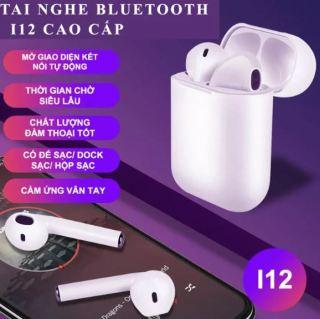 Tai Nghe Bluetooth 5.0 i12 pro TWS, Tai nghe Bluetooth không dây 5.0 i12 12 pro TWS Lỗi 1 đổi 1 trong 7 ngày đầu - Tai nghe không dây, tai nghe giá rẻ, tai nghe bluetooth không dây, tai nghe bluetooth cho IOS và Android thumbnail