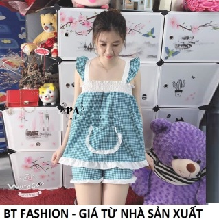 Đồ Bộ Mặc Nhà Vải Katê Lụa Mềm Mát- BT Fashion (Caro Túi - Nhúng 07) thumbnail