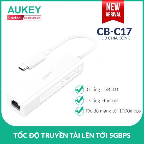 Bảng giá Hub Chia Cổng Type C Sang USB Aukey CB-C17 3 Cổng USB 3.0 Và 1 Cổng Gigabit Ethernet - Nhà Phân Phối Chính Thức Phong Vũ
