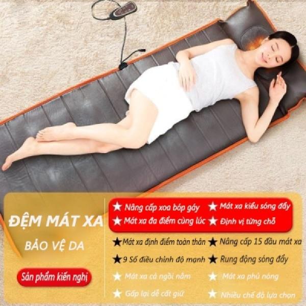 Đệm massage gia đình, đệm massage toàn thân vai gáy, lưng, hông đa chức năng, Đệm ghế tựa lưng dành cho người lớn tuổi