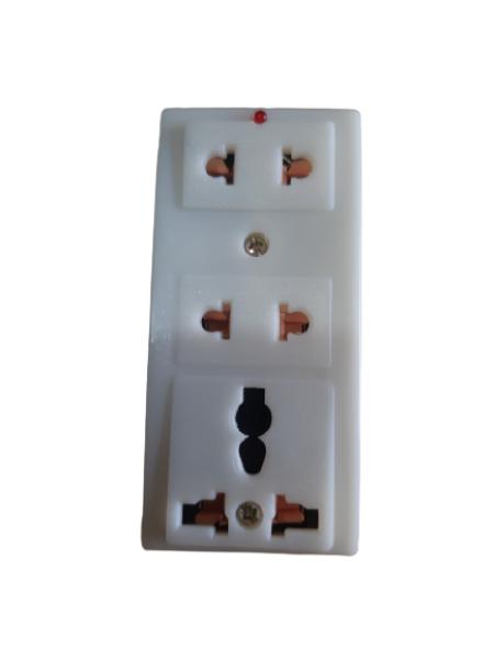 COMBO 10 CÁI Ổ Cắm Điện 3 Lỗ 2 Chấu 10A -250V CÓ ĐÈN BÁO ĐỎ ( MÃ : A3D ) giá rẻ
