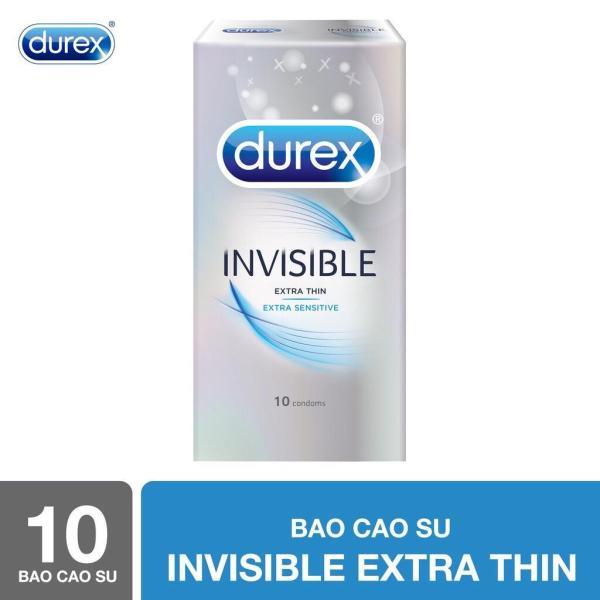 [ SALE ] Bao cao su  Durex Invisible Extra Thin cực siêu mỏng 10s [che tên sản phẩm] cao cấp