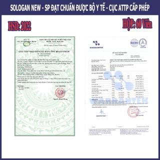 Viên Bổ Gan Sologan New (Hộp 60 Viên) - Sản phẩm của người Việt - cho người Việt. Hỗ trợ giải độc gan - Tăng cường chức năng gan 6