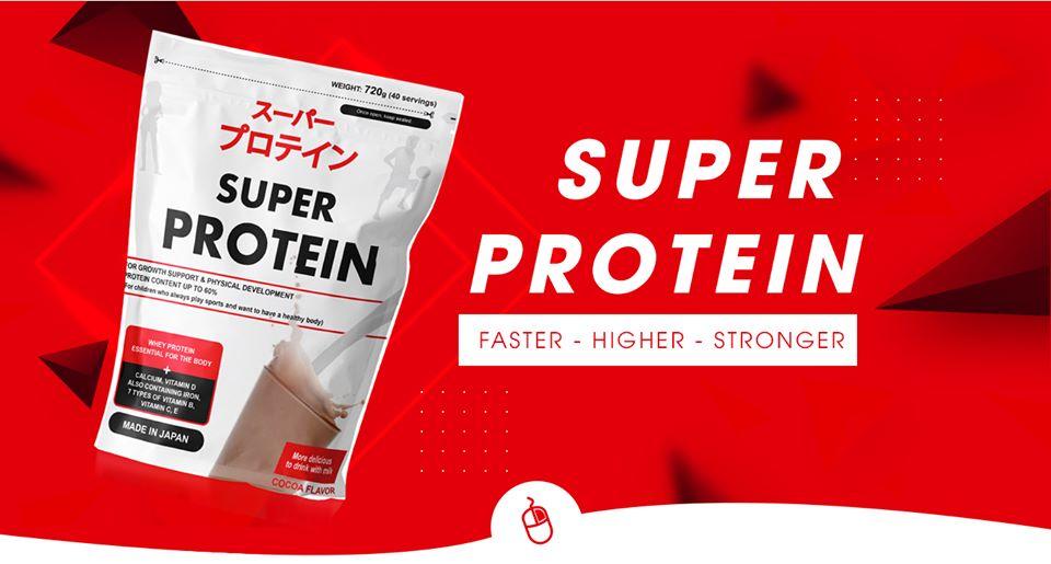 Thực phẩm bổ sung dinh dưỡng protein và các khoáng chất Super Protein vị Cacoa 720g cao cấp