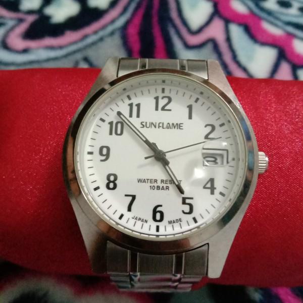 Đồng hồ Nam J-AXIS 37mm Mặt tròn dây da