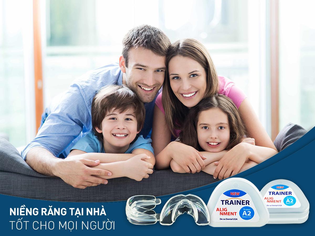 Bộ niềng răng tại nhà 4D Dùng cho người lớn[A1+ A2 + A3] nhập khẩu