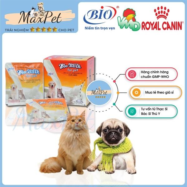 Sữa dinh dưỡng cao cấp chuyên dùng cho chó mèo MP01 giúp cai sữa,  tăng cân nhanh, phát triển tốt cho thú cưng Bio Milk For Pet 100g - Maxpet