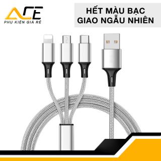 Cáp sạc đa năng ( bọc dù ) 3 trong 1 gồm Lightning - Micro USB - Type C thumbnail