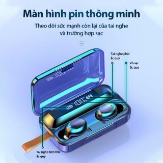 Tai Nghe Bluetooth Nhét Tai Pin Trâu 3500 maH Micro HD, Chống Nước - Tai Nghe Bluetooth 5.0 - Tai nghe bluetooth pin trâu - Tai nghe nhét tai không dây bluetooth, Tai nghe bluetooth không dây pin trâu 5