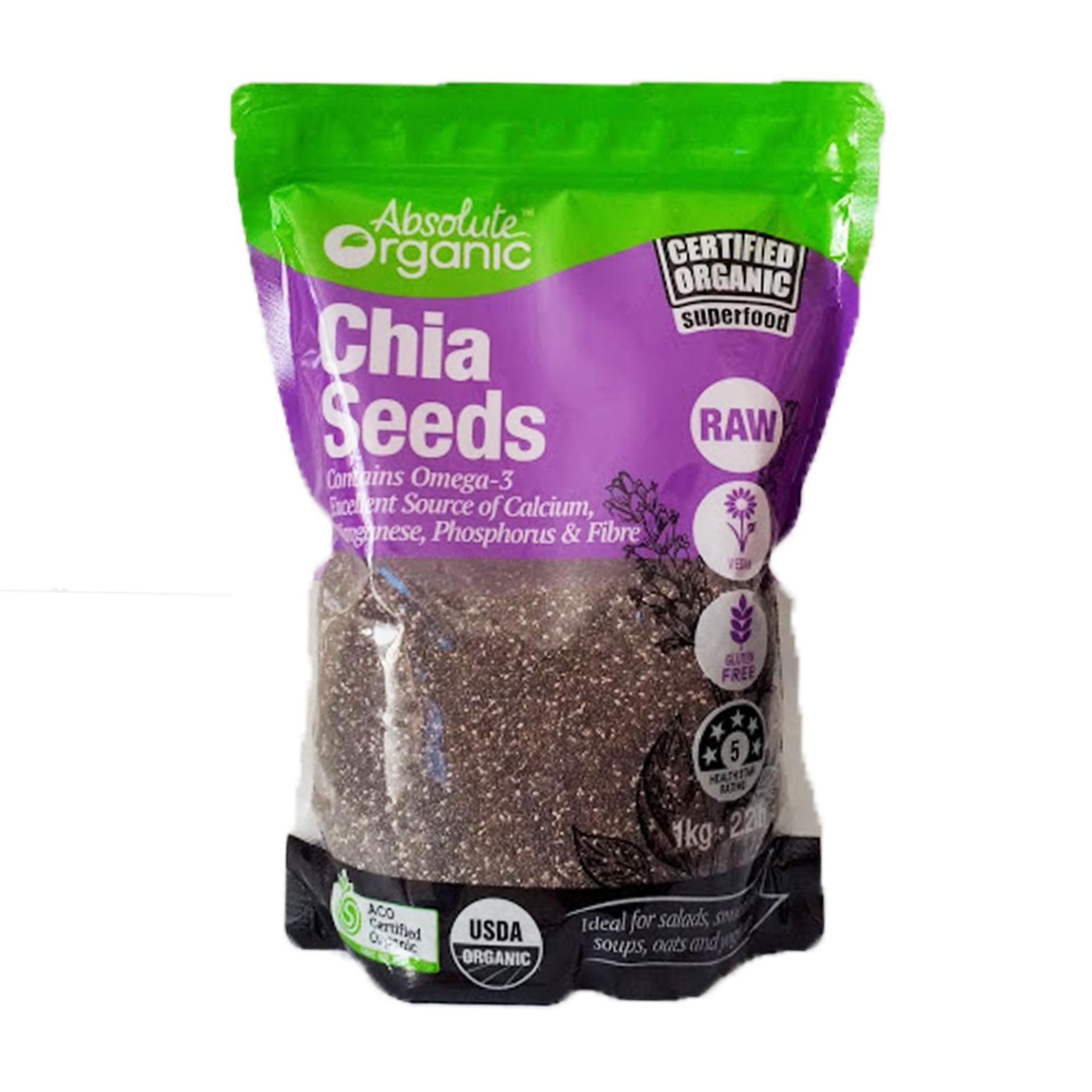 Giảm Giá Ưu Đãi Khi Mua Hạt Chia Seeds Tím Absotute Organic Úc Túi 1kg Giúp Giảm Cân, đẹp Da, Bổ Sung Chất Dinh Dưỡng Susuto Shop