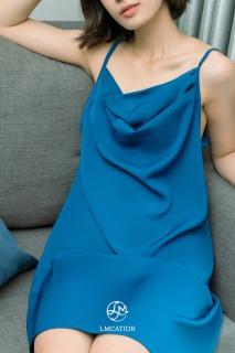 Đầm Ngủ Cổ Đổ LMcation Camila - Màu Xanh Đen thumbnail