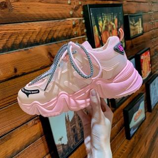 Giày thể thao nữ CLDB có 3 màu hồng, cam & xanh lá , chất da phối lưới cao cấp, độn đế cao, dây kép, thời trang Hàn Quốc năng động, cá tính , đẹp, giá rẻ , sử dụng đi học, đi làm, đi chơi , là mẫu giày nữ sneaker hot 2020 thumbnail