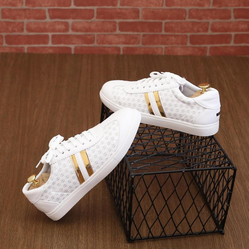 Giày Thể Thao Nam Trắng - Giày sneaker nam Hàn Quốc Cao Cấp - TỔNG KHO(PL01) - GIÁ HỦY DIỆT giá rẻ