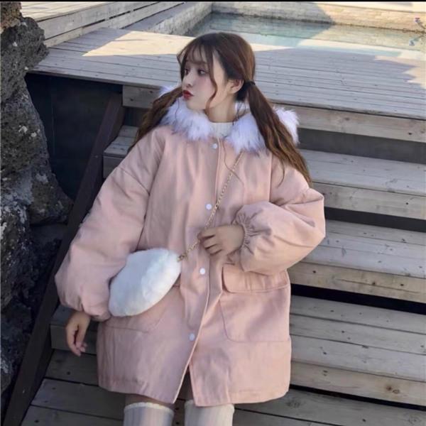 Áo khoác nữ, áo khoác kaki nữ mùa đông lót lông siêu ấm, áo khoác nữ phong cách hàn quốc [KAKI LÔNG]