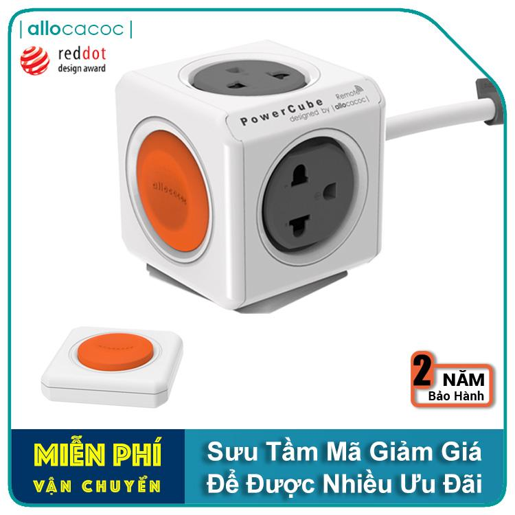 COMBO Ổ Cắm Điện Allocacoc PowerCube Extended Remote + Power Remote