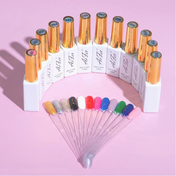 Cọ nét Aifer chính hãng - Cọ nét gel vẽ móng chuyên dụng (lẻ 1 màu)