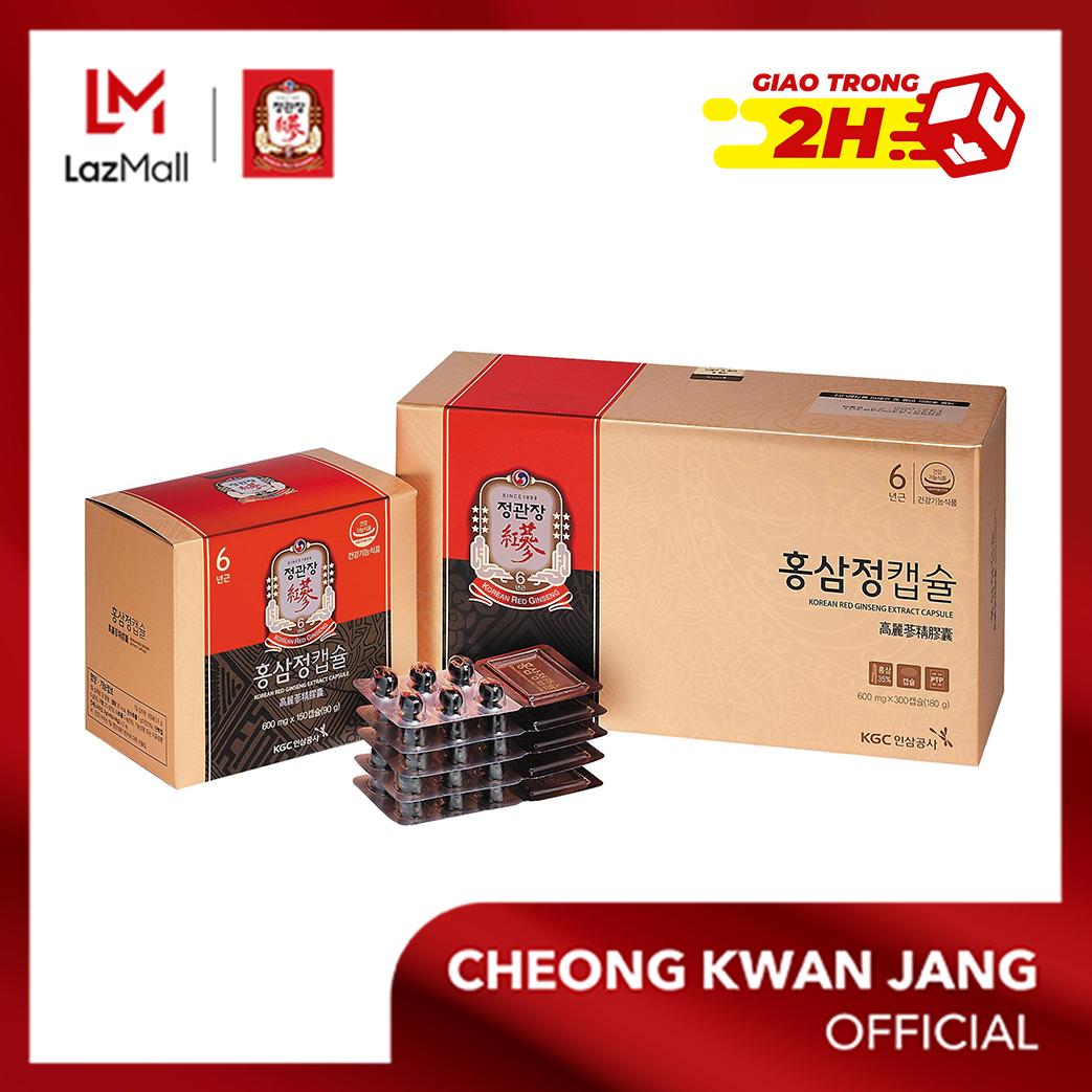 Viên nhộng Hồng sâm KGC Cheong Kwan Jang Extract Capsule (600mg x 300 viên) - Tăng đề kháng, cải thiện mệt mỏi, chống oxy hoá