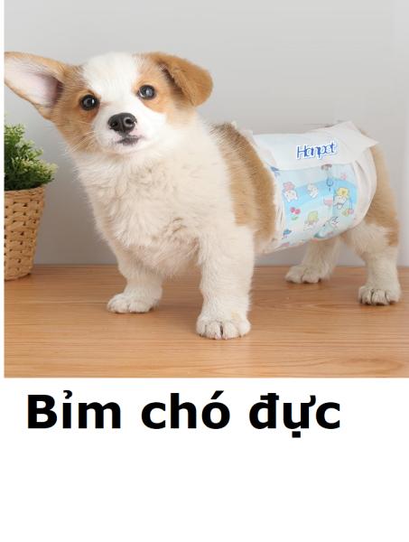 Doremiu - Tã bỉm chó  đực (Bịch 10 miếng) Bỉm dán cho chó đực dạng băng rốn
