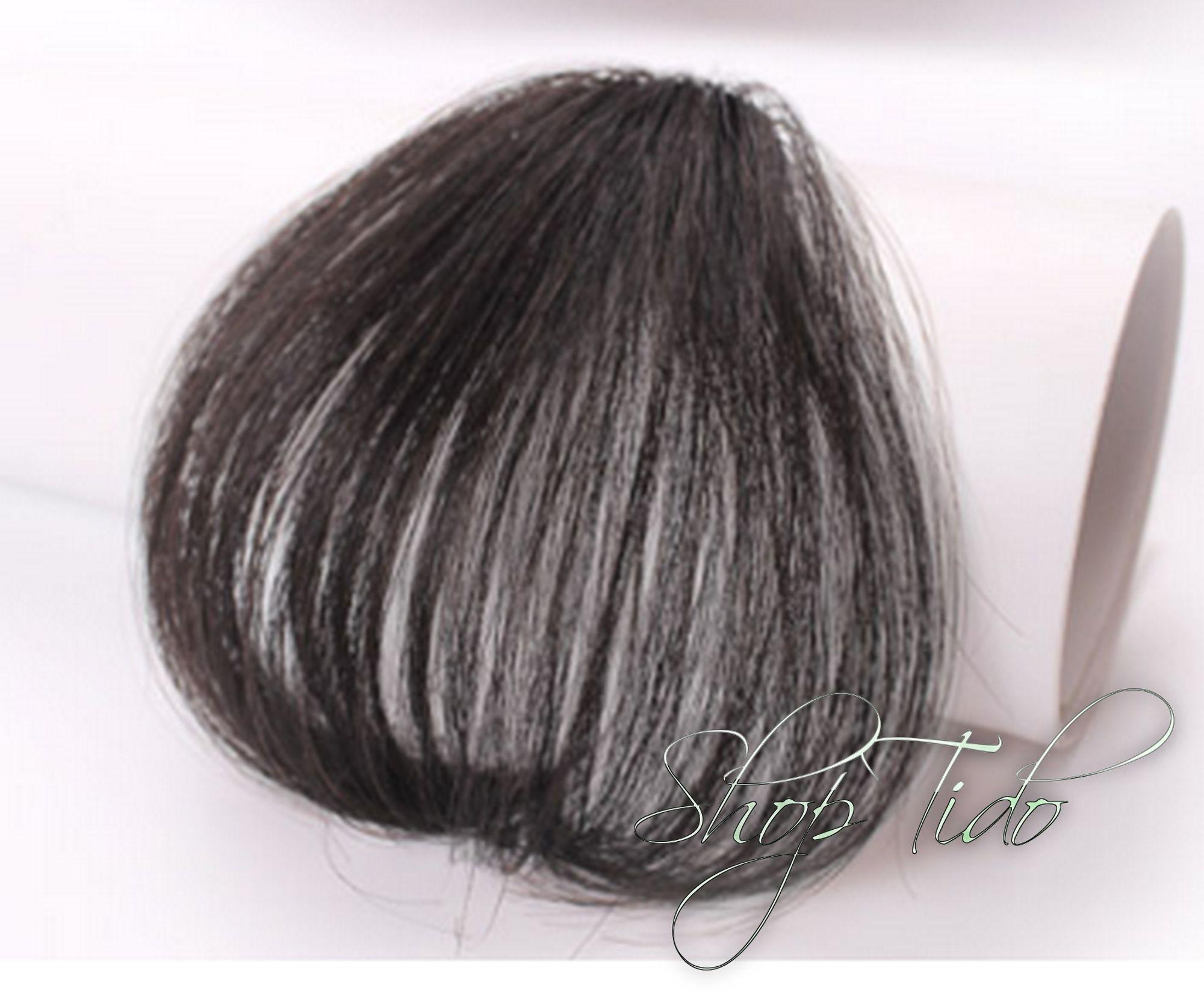 Tóc mái thưa màu đen nhạt - không có mai mã 4#