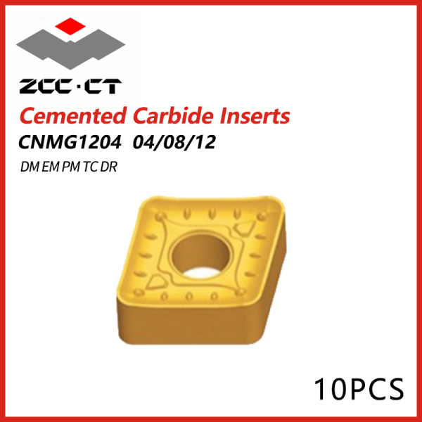 ZCCCT Cemented Carbide Inserts CNMG 1204 04/08/12 DM EM PM TC DR