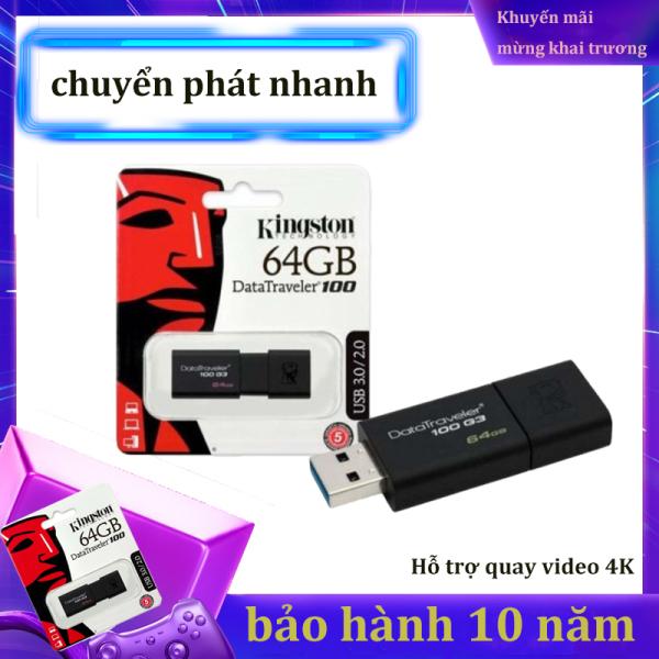Bảng giá USB 3.0 Kingston DataTraveler 100 - 64GB-Bảo Hành 10 Năm-Hàng Chính Hãng Phong Vũ