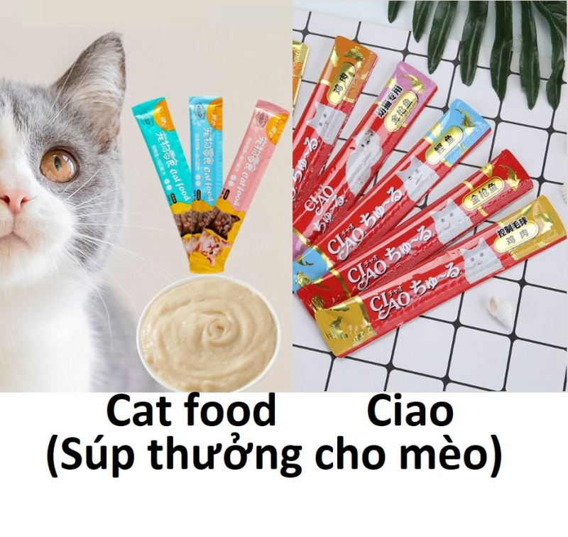 Doremiu Cat food & Ciao gel thanh 14gr Pate cho mèo dạng thanh thức ăn ướt thơm ngon bổ dưỡng cho mèo