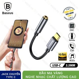 Jack chuyển đổi Type C sang cổng 3.5mm có mic Baseus L54 chính hãng thumbnail