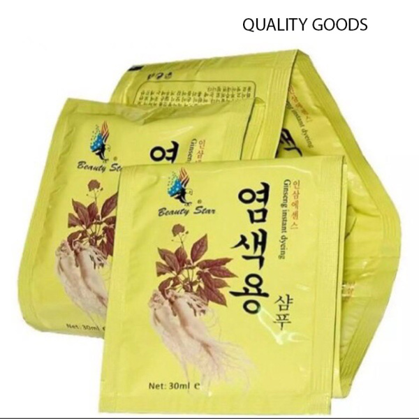 [DEAL SỐC 3 NGÀY] Set 10 Gói Dầu Gội Đen Tóc Nhân Sâm Beauty Star Hàn Quốc - Quality Goods - {HÀNG CHÍNH HÃNG} Sản phẩm chiết xuất thảo dược mùi thơm dễ chịu, an toàn cho da đầu cao cấp