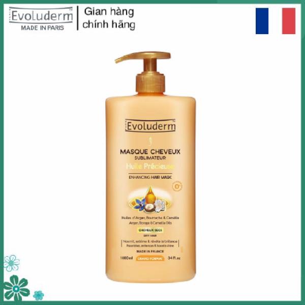 Kem ủ giúp phục hồi nuôi dưỡng dành cho tóc khô chiết xuất tinh dầu Quý Hiếm và Hoa Cam Thảo Masque Cheveux Huile Precieuse Evoluderm 1000ml