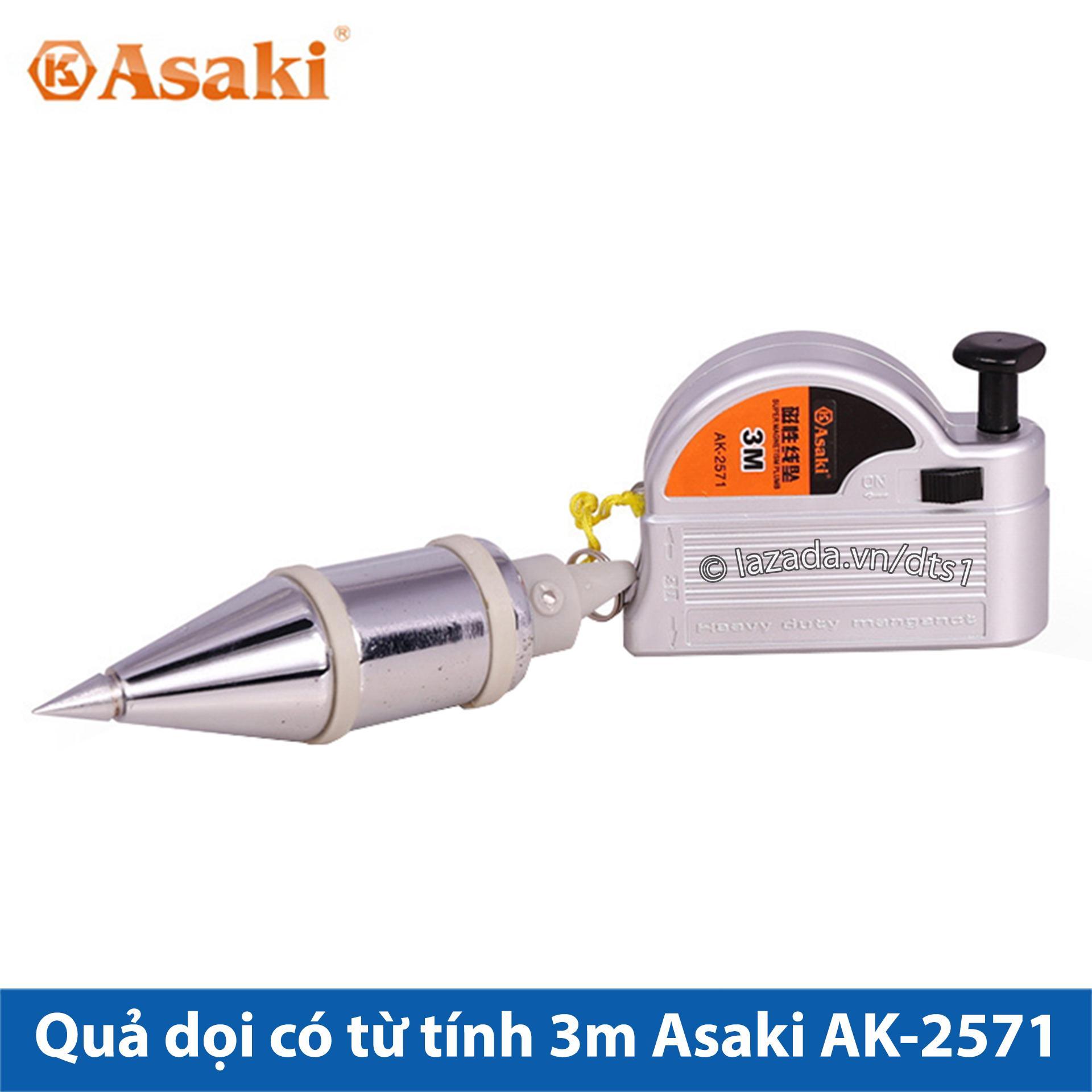 Quả dọi có từ tính 3m Asaki AK-2571 (Lập lòn từ tính)