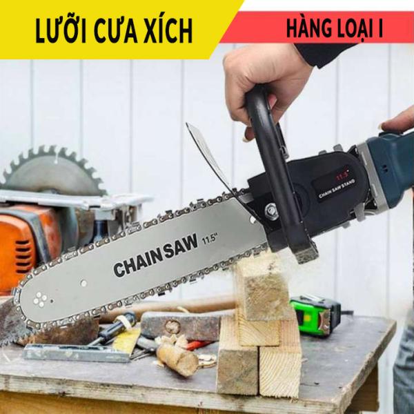Lưỡi cưa xích , bộ lam xích , lưỡi cưa xích gắn máy mài cầm tay , có bình tra dầu tự động , chuyên cưa gỗ , cưa cây