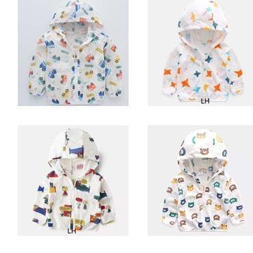 Áo khoác chống nắng trẻ em, Áo khoác chống tia UV, chống thấm nước, chống bám bụi chất đũi hàn mỏng nhẹ cho bé trai và bé gái từ 1 tuổi đên 7 tuổi( nhiều màu ngẫu nhiên) [Chuột Lắc Store] Nhật Bản