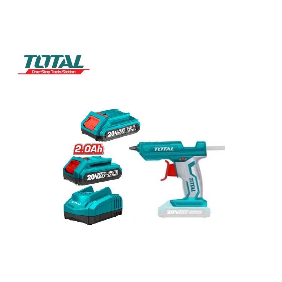 20V Dụng cụ  bắn keo dùng pin Total TGGLI2001-B1 ( kèm theo 2 pin Lithium và 1 cục sạc )