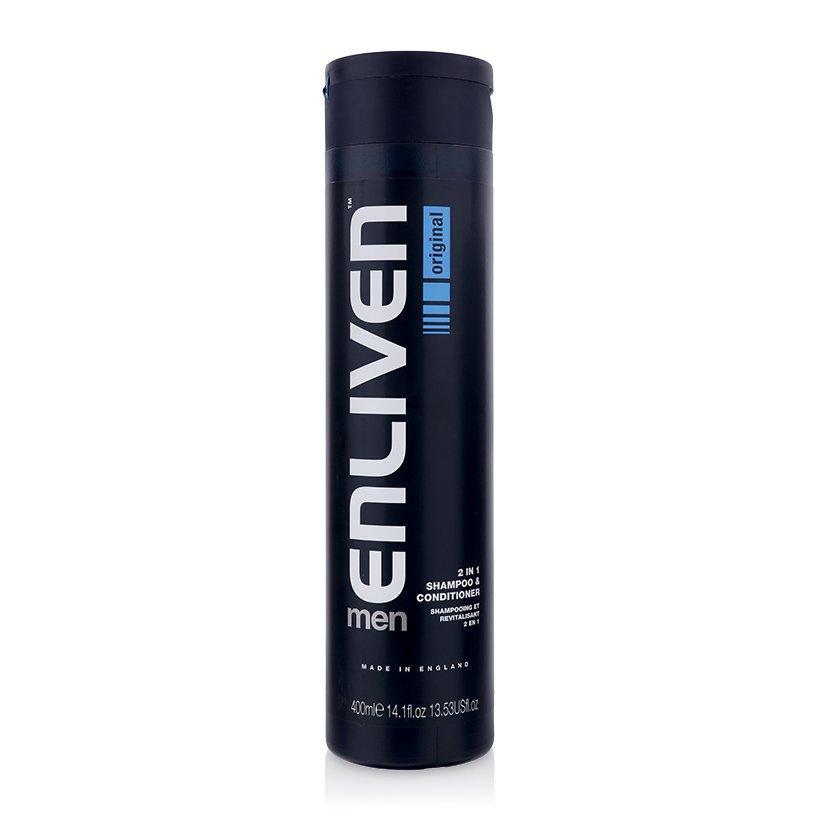 Dầu gội và xả dưỡng tóc Enliven Mens 2 in 1 Shampoo & Conditioner 400ml