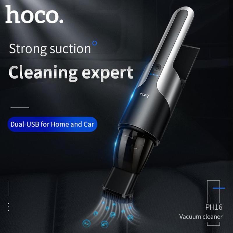 Máy hút bụi xe hơi cầm tay Hoco PH16 chính hãng, pin sạc 2000mAh nhỏ gọn tiện lợi